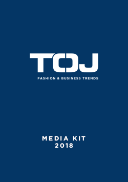 TØJ media kit 2018 UK