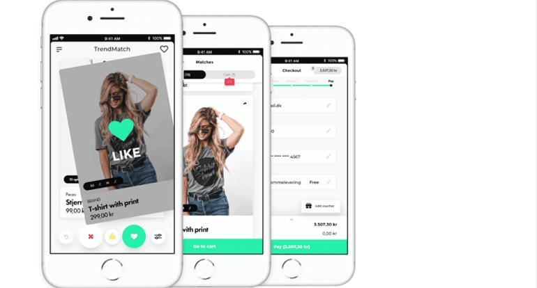 Dating app swipe højre